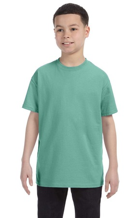 HANES Unisex 6.1 oz. Tagless T‑Shirt - Youth (Clean Mint)
