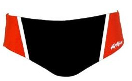DOLFIN Men's Team Panel Racer Brief (Black/Red/White)