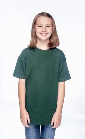 HANES Unisex 6.1 oz. Tagless T‑Shirt - Youth (Deep Forest)