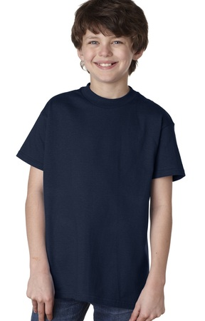 HANES Unisex 6.1 oz. Tagless T‑Shirt - Youth (Deep Navy)