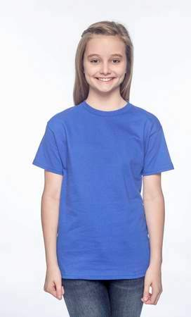 HANES Unisex 6.1 oz. Tagless T‑Shirt - Youth (Deep Royal)
