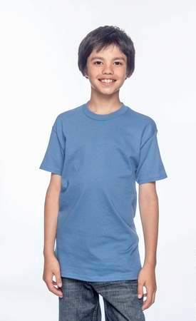 HANES Unisex 6.1 oz. Tagless T‑Shirt - Youth (Denim Blue)