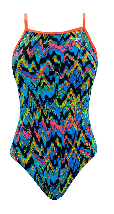 THE FINALS Women's Funnies Fun House Flutter Back Swimsuit (Multi (94))