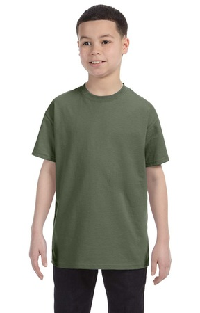 HANES Unisex 6.1 oz. Tagless T‑Shirt - Youth (Fatigue Green)