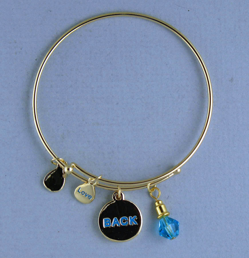 TOTALLY STROKED Gold Backstroke Bracelet GoldBack