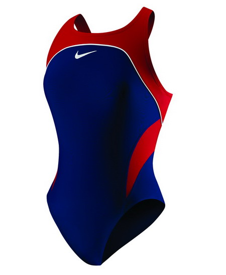 NIKE SWIM Team Color Block Power Back Tank Youth (Midnight Navy)