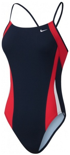 NIKE SWIM Poly Color Surge Cut-Out Tank (University Red/Navy (647))