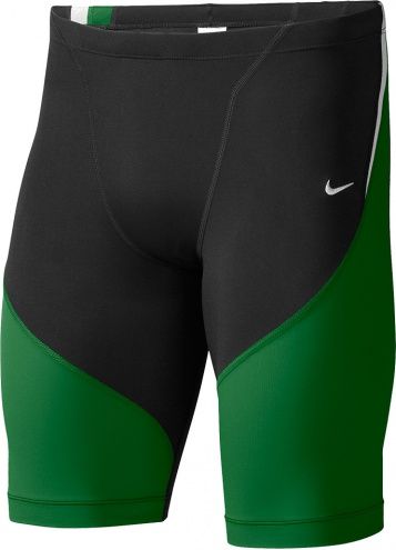 NIKE SWIM Poly Color Surge Jammer (Court Green (313))