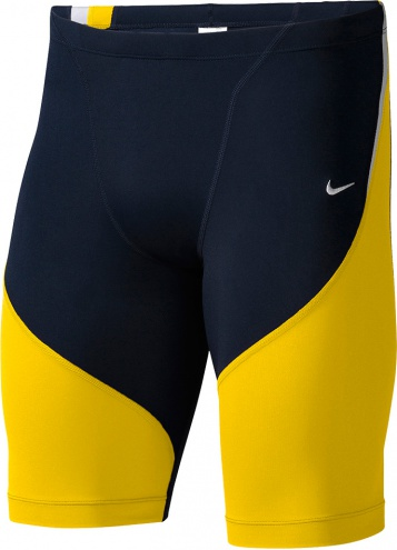 NIKE SWIM Poly Color Surge Jammer (Varsity Maize/Navy (705))