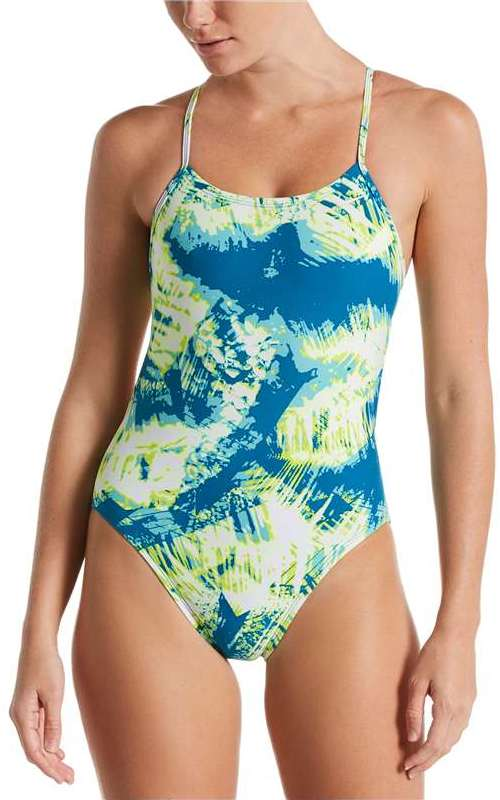 NIKE Women's Solar Canopy Cut-Out One-Piece (Green Abyss (448))