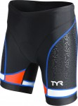 TYR Women's Competitor 6 Inch Tri Short (Black/Coral/Blue (708))