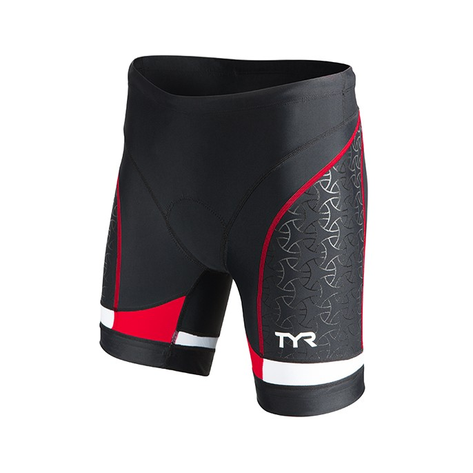 TYR Women's Competitor 6 Inch Tri Short (Black/Red (002))