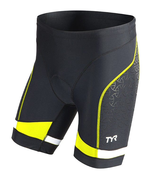 TYR Men's Competitor 9 Inch Tri Short (Black/Yellow (069))