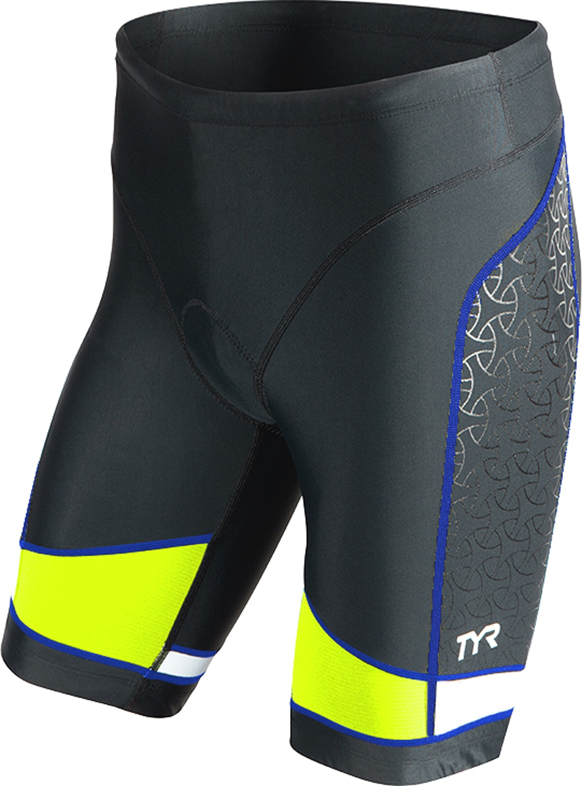 TYR Men's Competitor 9 Inch Tri Short (Black/Lime/Blue (706))