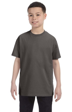 HANES Unisex 6.1 oz. Tagless T‑Shirt - Youth (Smoke Gray)