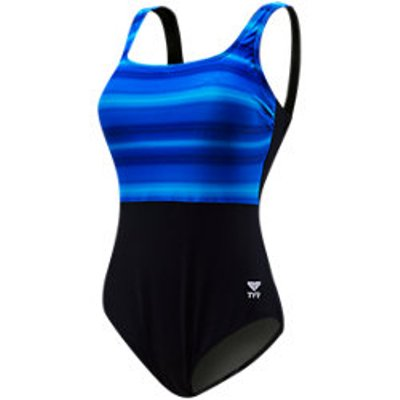 TYR Fitness Tramonto Women's Scoop Neck Controlfit (Blue (420))
