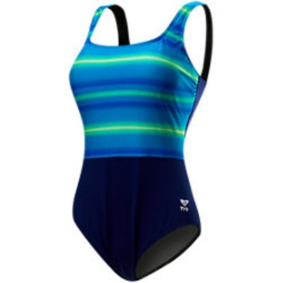 TYR Fitness Tramonto Women's Scoop Neck Controlfit (Blue/Green (487))