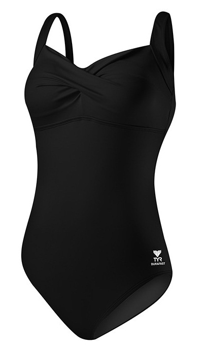 TYR Solid Twisted Bra Controlfit (Black (001))
