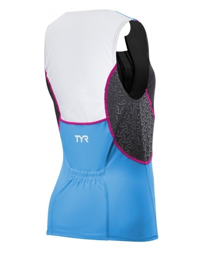 TYR Womens Competitor Loose Singlet w/Bra (Black/Blue/Pink)