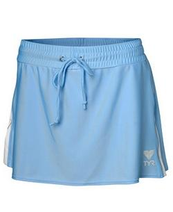 TYR Women's Fitness Two Toned Female Running Skirt (Light Blue)