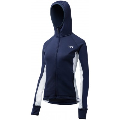 TYR Women's Victory Warm Up Jacket ( Navy/White (408))