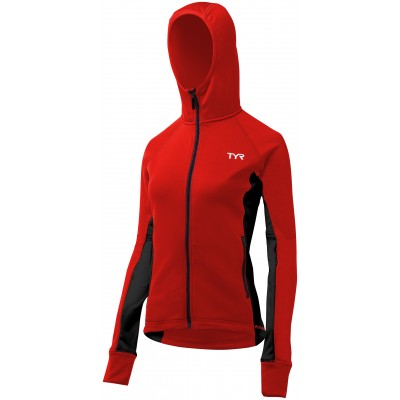TYR Women's Victory Warm Up Jacket ( Red/Black (640))