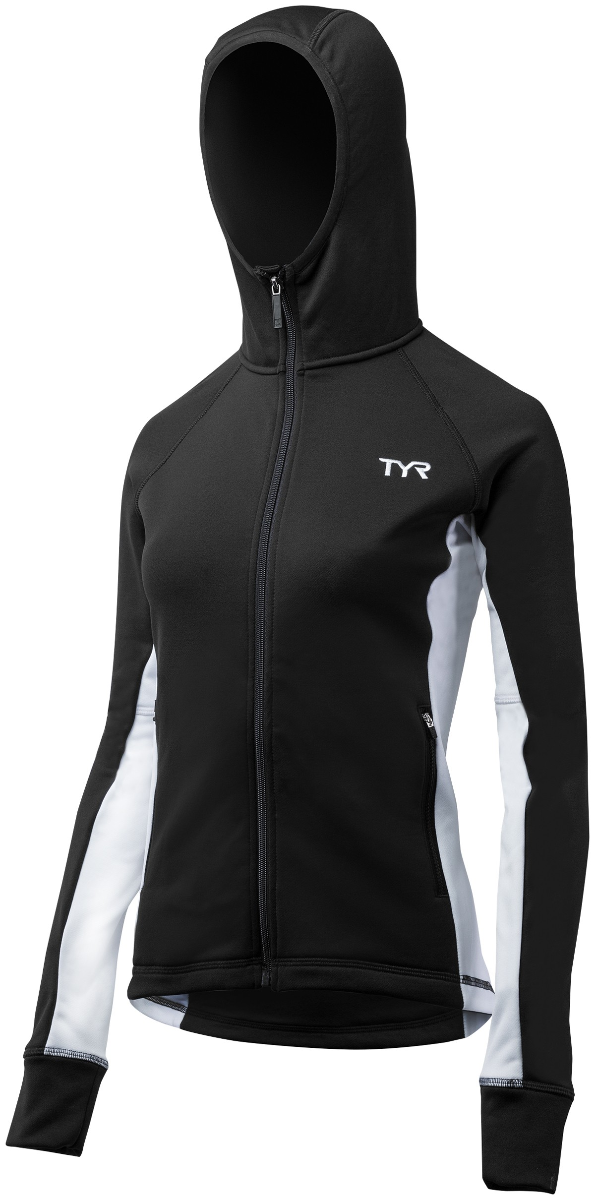 TYR Women's Victory Warm Up Jacket (Black/White (060))