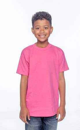 HANES Unisex 6.1 oz. Tagless T‑Shirt - Youth (Wow Pink)