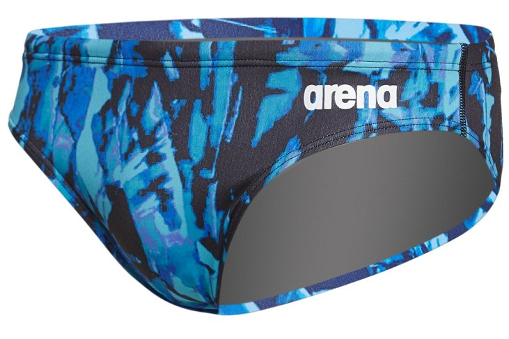 ARENA Men's Painted Brief Swimsuit (Bali Green (610))