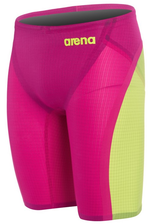 ARENA Men's Limited Edition Powerskin Carbon Flex VX Jammer Swimsuit (Fuchsia/Fluorescent Yellow (983))
