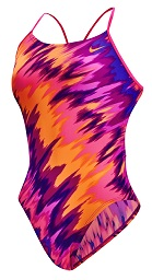 NIKE SWIM Immiscible Female Cut-Out Tank (24, 36-38 Only) (Fire Pink (693))