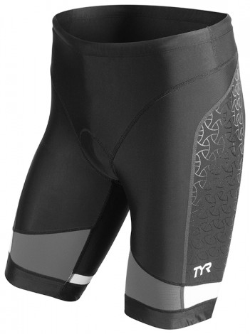 TYR Men's Competitor 9 Inch Tri Short (Black/Grey (088))