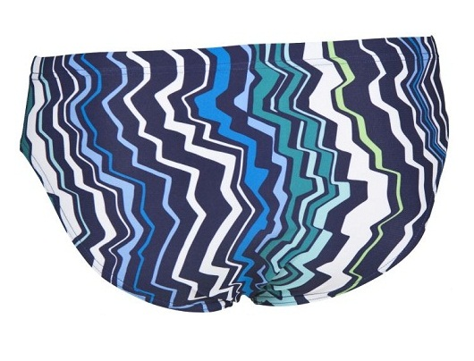 ARENA Men's Zig Zag Brief - MaxLife (Roya/Leaf (806))