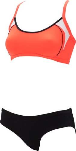 Aqua Sphere Active Swim Tulsi Female Bikini Cross Back Swimsuit (Red/Black (0601))
