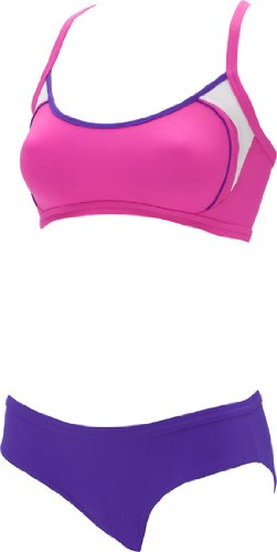 Aqua Sphere Active Swim Tulsi Female Bikini Cross Back Swimsuit (Pink/Purple (0205))